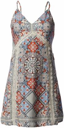 Somedays Lovin Women's Light The Stars Printed V Neck Dress