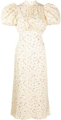 Rotate by Birger Christensen Backless Floral Print Dress