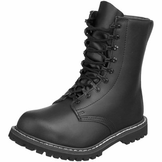 Mil Tec German Army Paratrooper Combat Black Mens Leather BW Cadet Military Boots