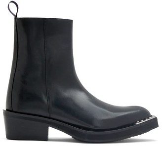 Eytys Romeo Point-toe Leather Boots - Black