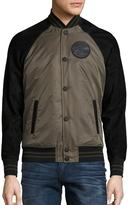 True Religion Men's Varsity Militant Jacket - Grey, Size x-large