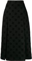 Fendi Karligraphy motif midi skirt