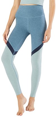 Beyond Yoga Spacedye High Waisted Midi Leggings (Stormy Blue) Women's Casual Pants