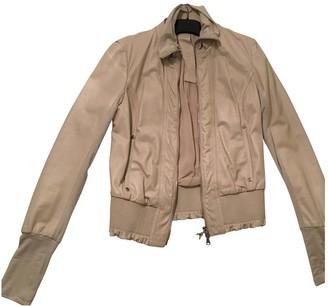 Patrizia Pepe Ecru Leather Leather Jacket for Women