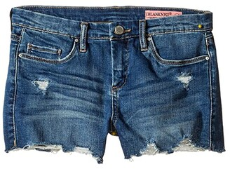 Blank NYC Kids Denim Distressed Cut Off Shorts (Big Kids) (Blue) Girl's Shorts