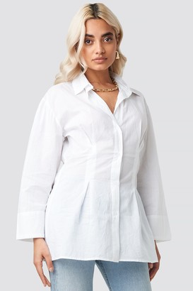 NA-KD Pleat Detail Oversized Shirt