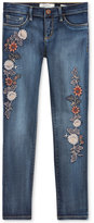Jessica Simpson Floral-Embroidered Skinny Jeans, Big Girls (7-16)