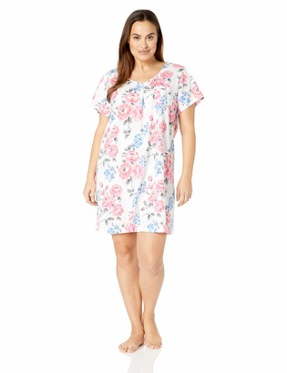 Karen Neuburger Women's Petite Short Sleeve Sleepdress Pajama PJ