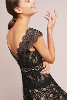 Anthropologie ML Monique Lhullier Black Lace Dress