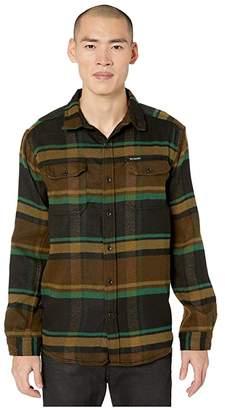 Columbia Deschutes Rivertm Heavyweight Flannel (Olive Green Oversized Check) Men's Long Sleeve Button Up