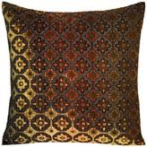 Kevin OBrien Kevin O'brien Studio Small Moroccan Velvet Geometric Throw Pillow Kevin O'Brien Studio Color: Cobalt, Size: 18'' x 18''