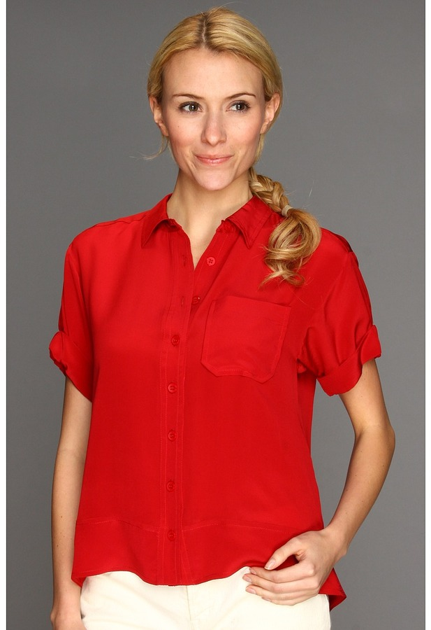 Nanette Lepore Twister Top (Poppy Red) - Apparel