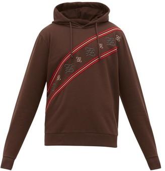 Fendi Karligraphy Striped Cotton-jersey Sweatshirt - Mens - Brown