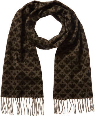 Bally Patterned Wool-Blend Scarf