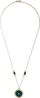L'Atelier Nawbar Rose Gold, Diamond, Malachite And Onyx Amulets Of Light Pendant Necklace