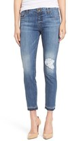 KUT from the Kloth Women's Reese Distressed Stretch Ankle Jeans