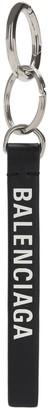 Balenciaga Logo Print Leather Key Holder