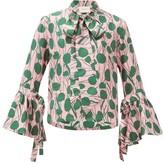 La DoubleJ Happy Wrist Floral-print Silk Blouse - Womens - Pink Multi