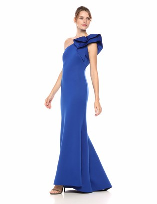 Eliza J Women's One Shoulder Gown with Ruffle Detail