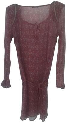 Ikks \N Burgundy Silk Dress for Women