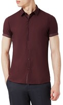 Topman Men's Dot Slim Shirt