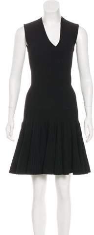 Alaia Rib Knit Fit and Flare Dress