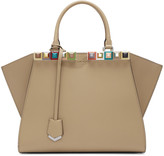 Fendi Tan Studded 3Jours Tote