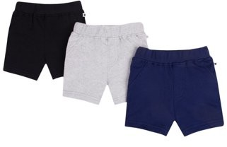Little Star Organic Baby and Toddler Boy Pure Organic True Brights Shorts, 3 pack