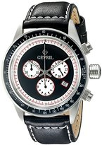 Tribeca Gevril Men's A2110 Stainless Steel Black Watch