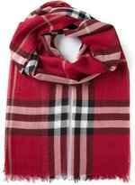 Burberry 'House' check scarf - women - Silk/Wool - One Size