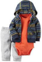 Carter's 3-Pc. Fair Isle-Print Hoodie, Bodysuit & Pants Set, Baby Boys (0-24 months)