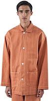 Story Mfg. Men's Cotton Twill Time Jacket In Madder Orange