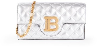 Balmain B-Smartphone Metallic Leather Crossbody Bag