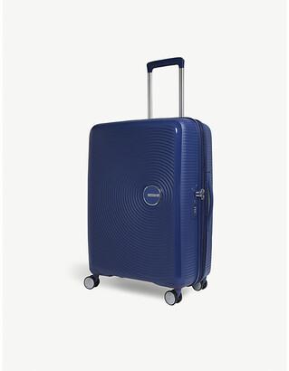 American Tourister Bass Black Soundbox Expandable Four Wheel Suitcase
