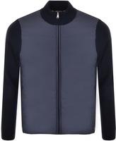 Aquascutum London Wise Panelled Funnel Jumper Navy
