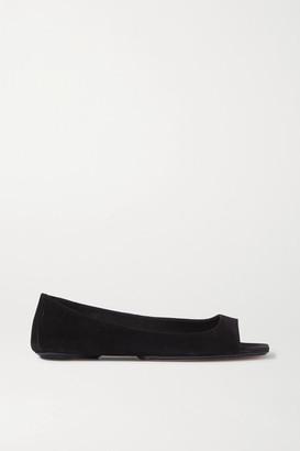 KHAITE Suede Ballet Flats - Black