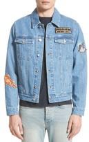 Kenzo Men's Stone Wash Patch Denim Jacket