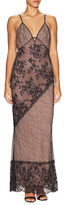 ABS by Allen Schwartz Lace Strapped Maxi Dress