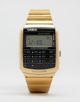 Casio Digital Watch In Black/Gold