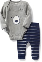 Old Navy 2-Piece Critter Bodysuit and Leggings Set for Baby