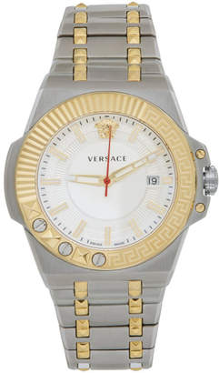 Versace Silver and Gold Chain Reaction Watch