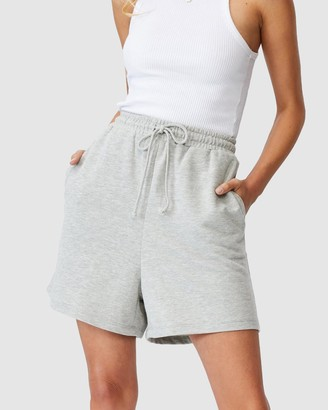 Cotton On Women's Grey High-Waisted - Clubhouse Shorts - Size 6 at The Iconic
