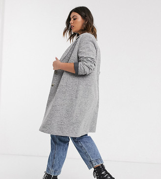 Only curve coat in light gray
