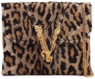 Versace Leopard Printed Shoulder Bag