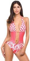 Avidlove Women's Sexy One Piece Swimsuit Cover Ups Polka Dot Swimwear