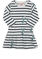 Munster Cactus-Print Striped Cotton Jersey Dress-LIGHT BLUE, NO COLOR