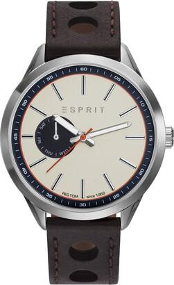 Esprit Men's Analogue Classic Quartz Watch with Leather Strap ES109211001