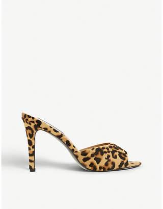 Steve Madden Erin SM leopard-print leather heeled mules