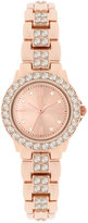 INC International Concepts Women's Crystal Accent Rose Gold-Tone Bracelet Watch 26mm IN003RG, Only at Macy's