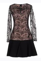 Axara Paris Pink Black Dress